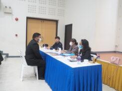 สอบสัมภาษณ์ผู้สมัครเพื่อเข้าศึกษาต่อในหลักสูตรประกาศนียบัตรบัณฑิตวิชาชีพครู